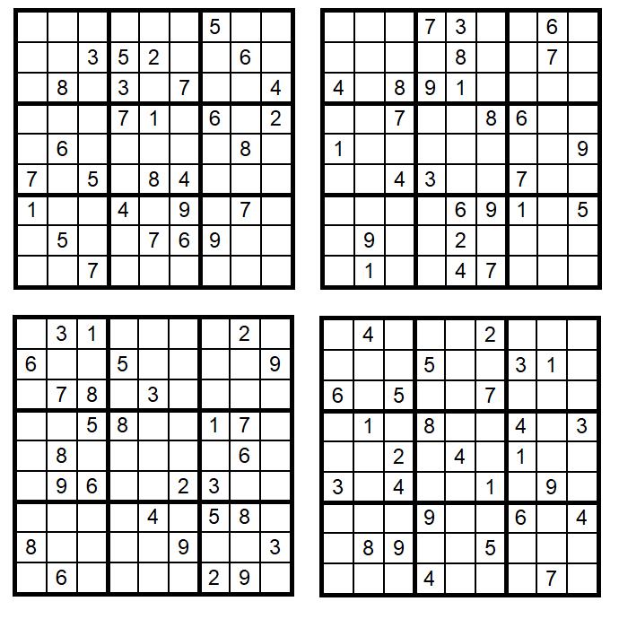 Sudoku-1-4 - April 2018 - Glarean-Magazin - Aufgaben