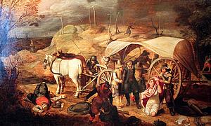 """Verstrickt in die Wirren und Greuel des Dreissigjährigen Krieges: """"Marodierende Soldaten"""" von Sebastian Vrancx (Gemälde von 1647)"""