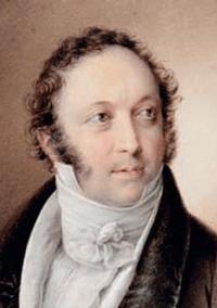 ...und der junge Rossini, 1822 gemalt von Friedrich Lieder