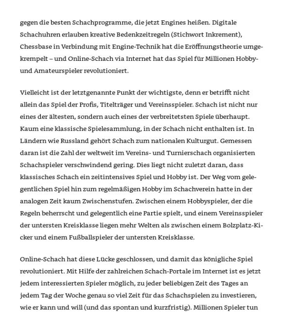 """Leseprobe aus Stefan Breuer: """"Online-Schach für Amateur- und Hobbyspieler"""""""