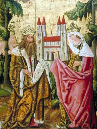 Heinrich und Kunigunde - Tafelbild 17. Jahrhundert - Heiligenbild - Glarean Magazin