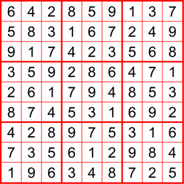 Instagram-Sudoku 17. Oktober 2019 - Lösung - Denksport Walter Eigenmann - Glarean Magazin