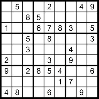 Sudoku 4 - November 2018 - Aufgabe - Glarean Magazin
