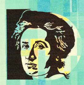 Rosa Luxemburg - Scherenschnitt - Simone Frieling - Glarean Magazin