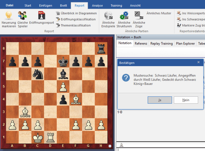 Chessbase-15 - Muster-Suche - Rezension Glarean Magazin