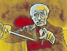 Karikatur Arturo Toscanini - Musiker-Anekdoten - Glarean Magazin