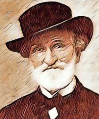 Karikatur Giuseppe Verdi - Musiker-Anekdoten - Glarean Magazin