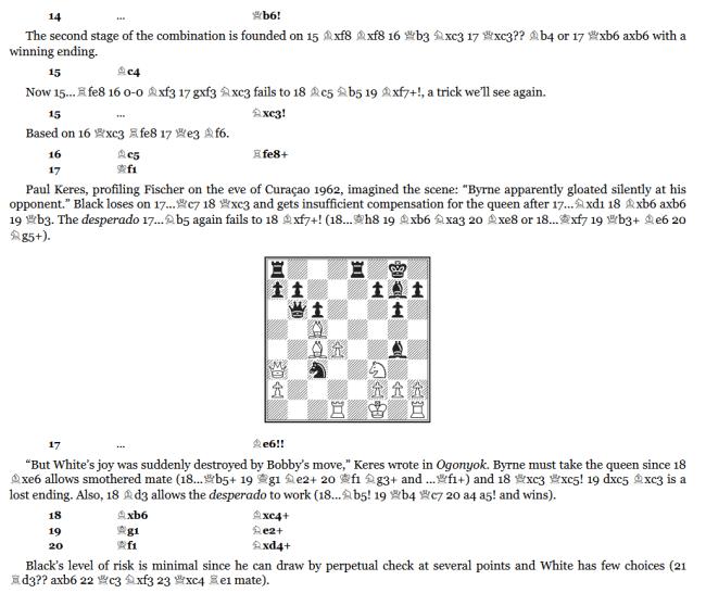 Bobby Fischer Rediscovered - Andrew Soltis - Batsford Chess - Lesebeispiel - Glarean Magazin