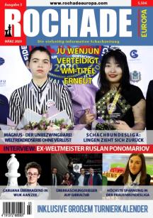 Schach-Zeitschrift - Rochade Europa - Ausgabe Nr.3 März 2020 - Rezension Glarean Magazin