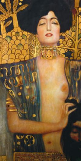 Judith mit dem abgeschlagenen Kopf des Holofernes, nach einem Gemälde von Gustav Klimt (1901) - Glarean Magazin