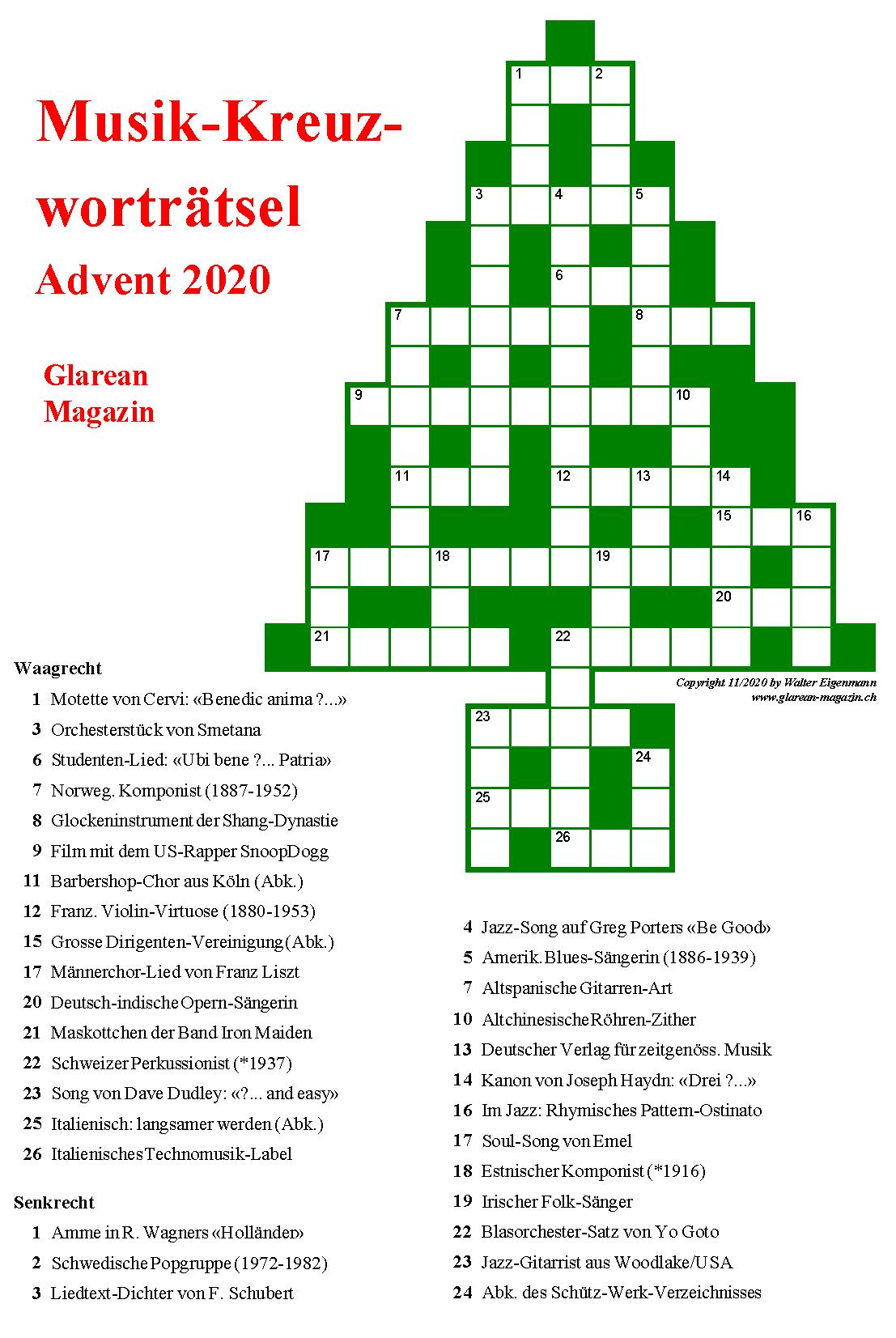 Neues Kreuzworträtsel