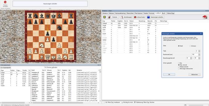 Chessbase 16 - Neuerungen schürfen - Holländisch - Staunton Gambit