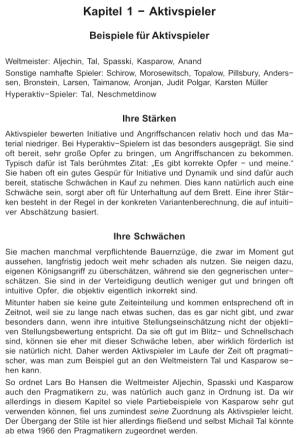 Müller & Engel - Spielertypen im Schach - Leseprobe 1 (Aktivspieler) - Glarean Magazin