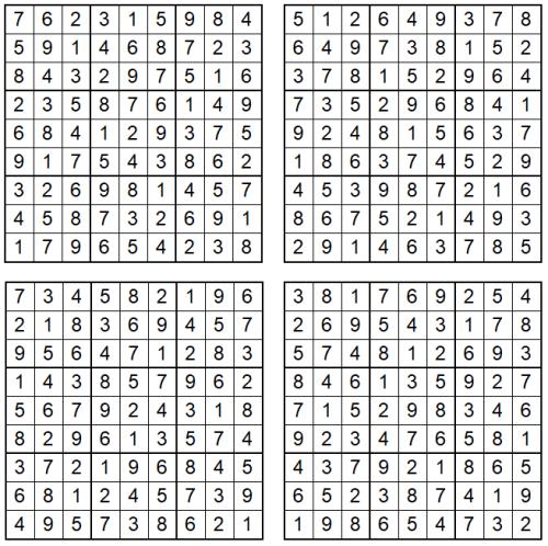 Sudoku September 2021 - Lösungen - Glarean Magazin