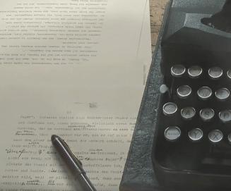 Friedrich Glauser - Studer Manuskript und Schreibmaschine - Glarean Magazin