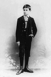 Franz Kafka als knapp Achtzehnjähriger