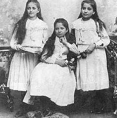 Die Schwestern Valli, Elli, Ottla (von Nazi-Deutschland in Lodz und Auschwitz ermordet)