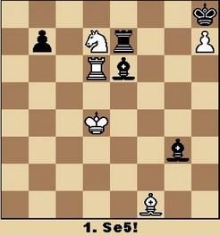 Studie von Kondratjev (aus Walter Eigenmann: Hundert Schach-Endspiele für Computer)