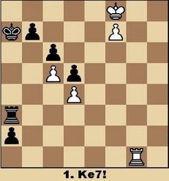 Studie von Sämisch (aus Walter Eigenmann: Hundert Schach-Endspiele für Computer)