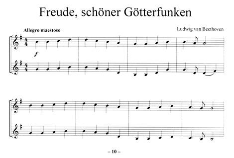 Leseprobe 1: Freude schöner Götterfunken (Beethoven) - Klassik-Hits für Panflöte (Classics for Pan)