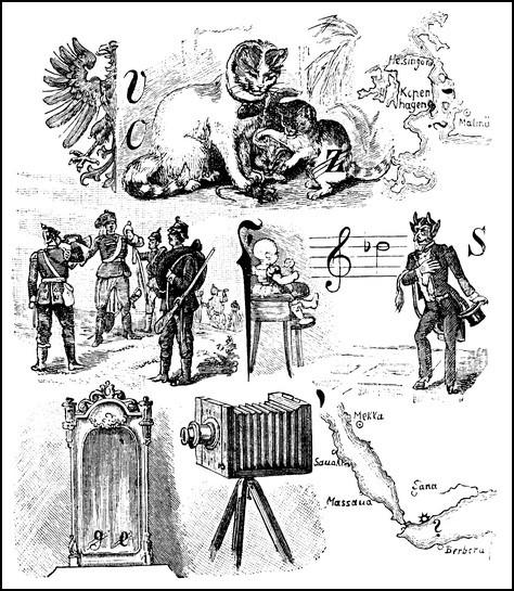 Rebus aus der seinerzeit berühmten Postille
