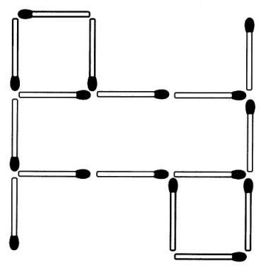 Streichholzrätsel Denksport-Aufgabe mit Lösung Matchstick Puzzle Nummer 02