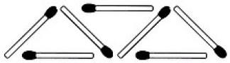 Streichholzrätsel Denksport-Aufgabe mit Lösung Matchstick Puzzle Nummer 03 Lösung