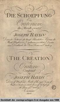 Die Schöpfung - Zweisprachige Erstausgabe von 1800