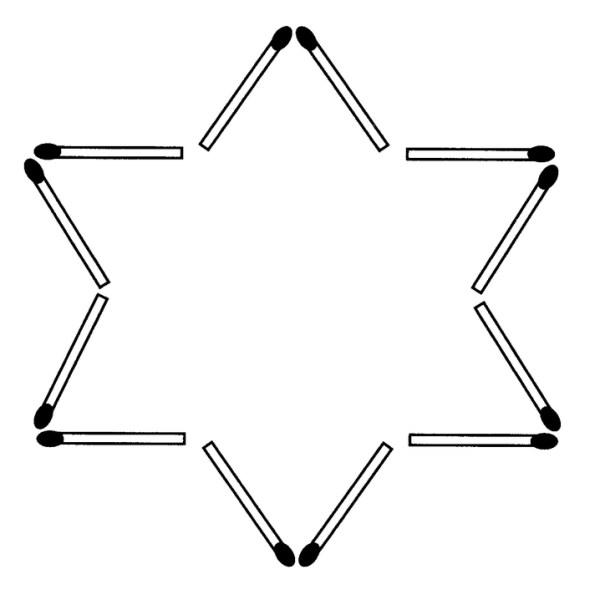 Streichholzrätsel Denksport-Aufgabe mit Lösung Matchstick Puzzle (Nummer 15)