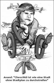 Des Schach-Cartoonisten Frank Stiefels unnachahmliche Handschrift
