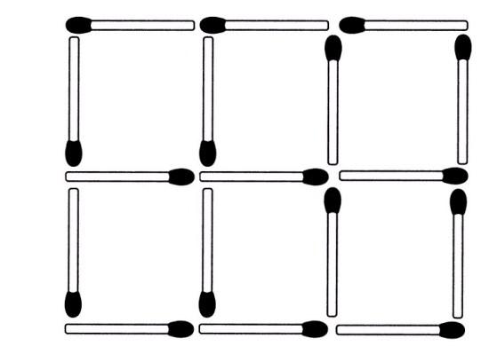 Streichholzrätsel Denksport-Aufgabe mit Lösung Matchstick Puzzle (Nummer 19)