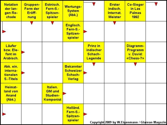 Das neue Schach-Kreuzworträtsel (August 2009)