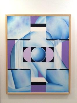 Ernst Platt - Im Zentrum, Öl auf Leinwand 100 x 100 cm