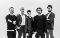 v. l. n. r. Tobias Rechsteiner, Jürgen Schwämmle, Clara Cremer, Sven Sauer und Jerry Kowalsky,