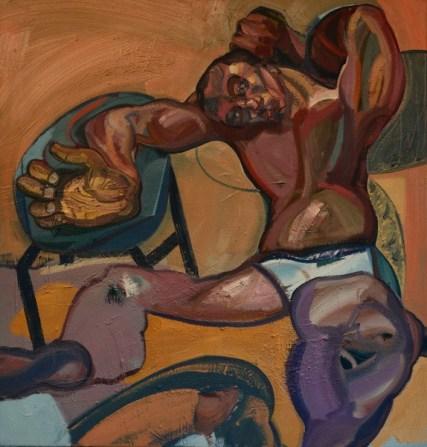 Nigatu Tsehay, Zoom in Zoom out, 2016, Öl auf Leinwand, 120 x 125 cm