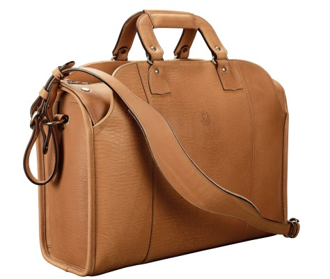 Hand-grained,-natural-Deal-Bag;-17-x-12-x-7'