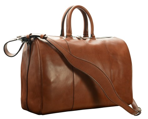 Hand-burnished,-espresso-Duffel-Bag;-19-x-13-x-9'