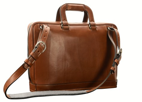 Hand-burnished-espresso-Platform-Bag;-15-x-11-x-4'-back