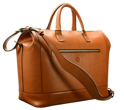 Hand-burnished,-chestnut-Club-Bag;-17-x-12-x-8'