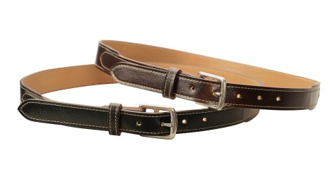 Hand-grained,-hand-colored-sienna-and-olive-black-Belt-with-natural-leather-lining