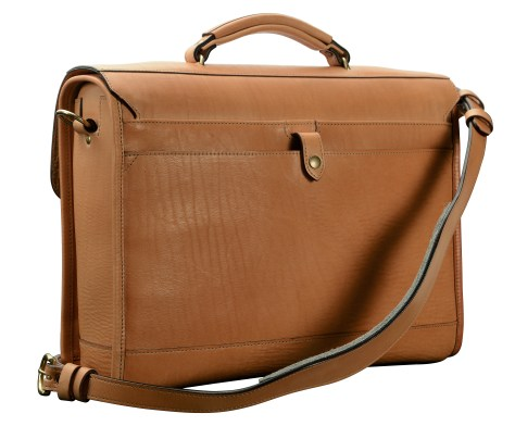 Hand-grained,-natural-Headhunter-Flaptop-Bag;-16-x-12-x-4'-back