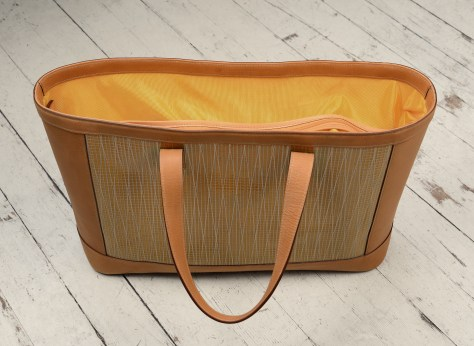 Hand-grained-natural-leather-Foldflat-Tote-with-sailcloth-topdown1