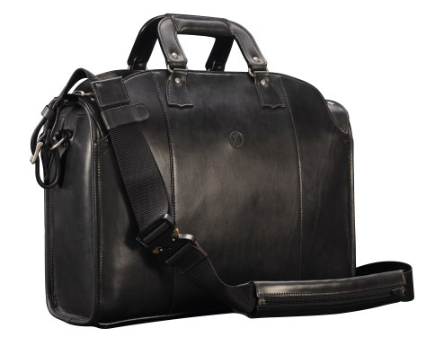 Hand-burnished-black-Deal-Bag;-18-x-12-x-6'