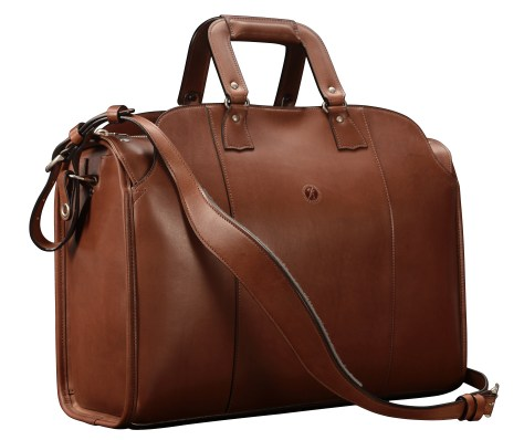 Hand-burnished-espresso-Litigation-Deal-Bag;-19-x-13-x-8'