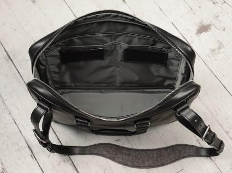 Hand-burnished,-handmade-black-Platform-Portfolio-with-cross-body-shoulder-strap;-16-x-11-x-4'-topdown2