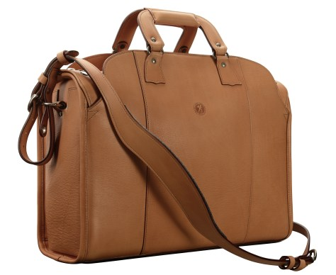 Hand-grained,-hand-finished-natural-Deal-Bag;-18-x-12-x-6'
