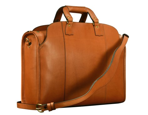 Hand-burnished,-handmade-chestnut-Transaction-Bag;-19-x-13-x-6'-back