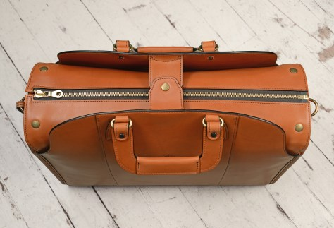 Hand-burnished,-handmade-chestnut-Transaction-Bag;-19-x-13-x-6'-topdown1