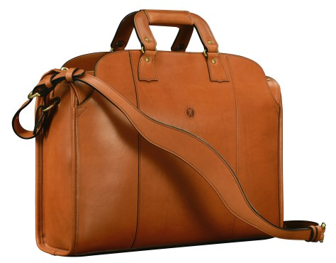 Hand-burnished,-handmade-chestnut-Transaction-Bag;-19-x-13-x-6'
