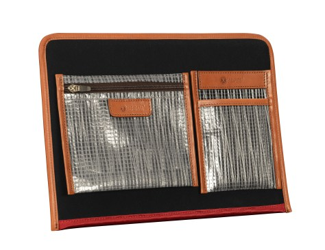 Hand-burnished-chestnut-Padded-Panel-with-crimson-red-lining-and-shirt-pocket-organizers-back
